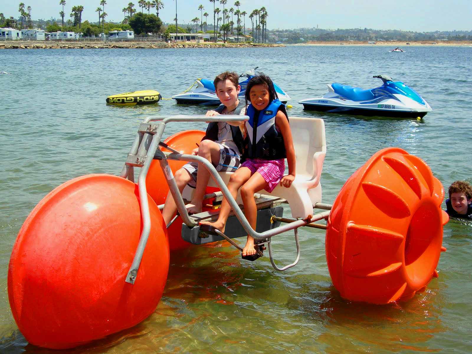 Campland On The Bay In San Diego Is Still Renting Out Their 30 Year Old Aqua Cycle Water Trikes A Little Maintena Camping Fun San Diego Vacation Paddle Wheel