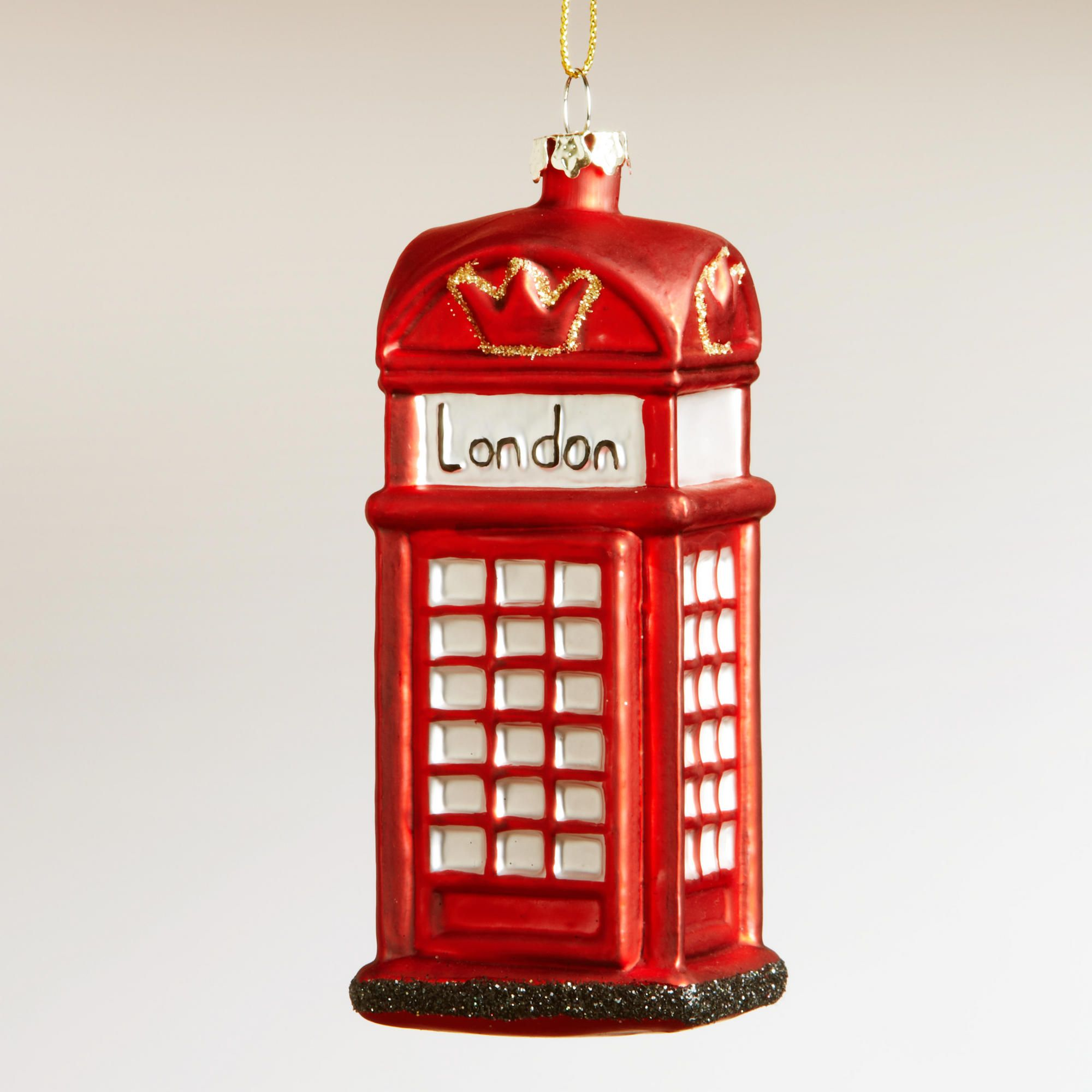 London phone booth ornament world market grown up christmas list