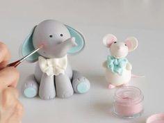 Modelado de elefante y ratón