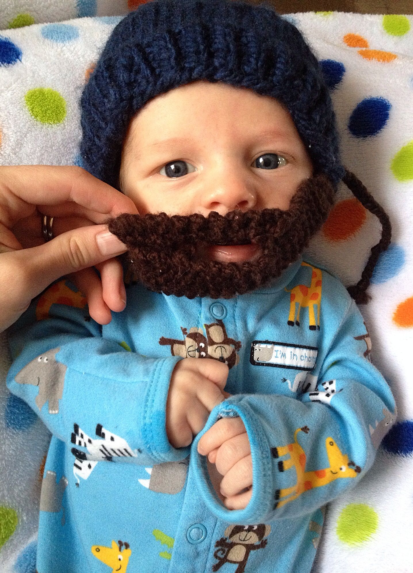 20532c1bed5 Bearded baby beanie 😍 Baby Beanies
