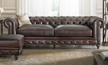 show details for francis drake top grain leather chesterfield sofa rh pinterest com