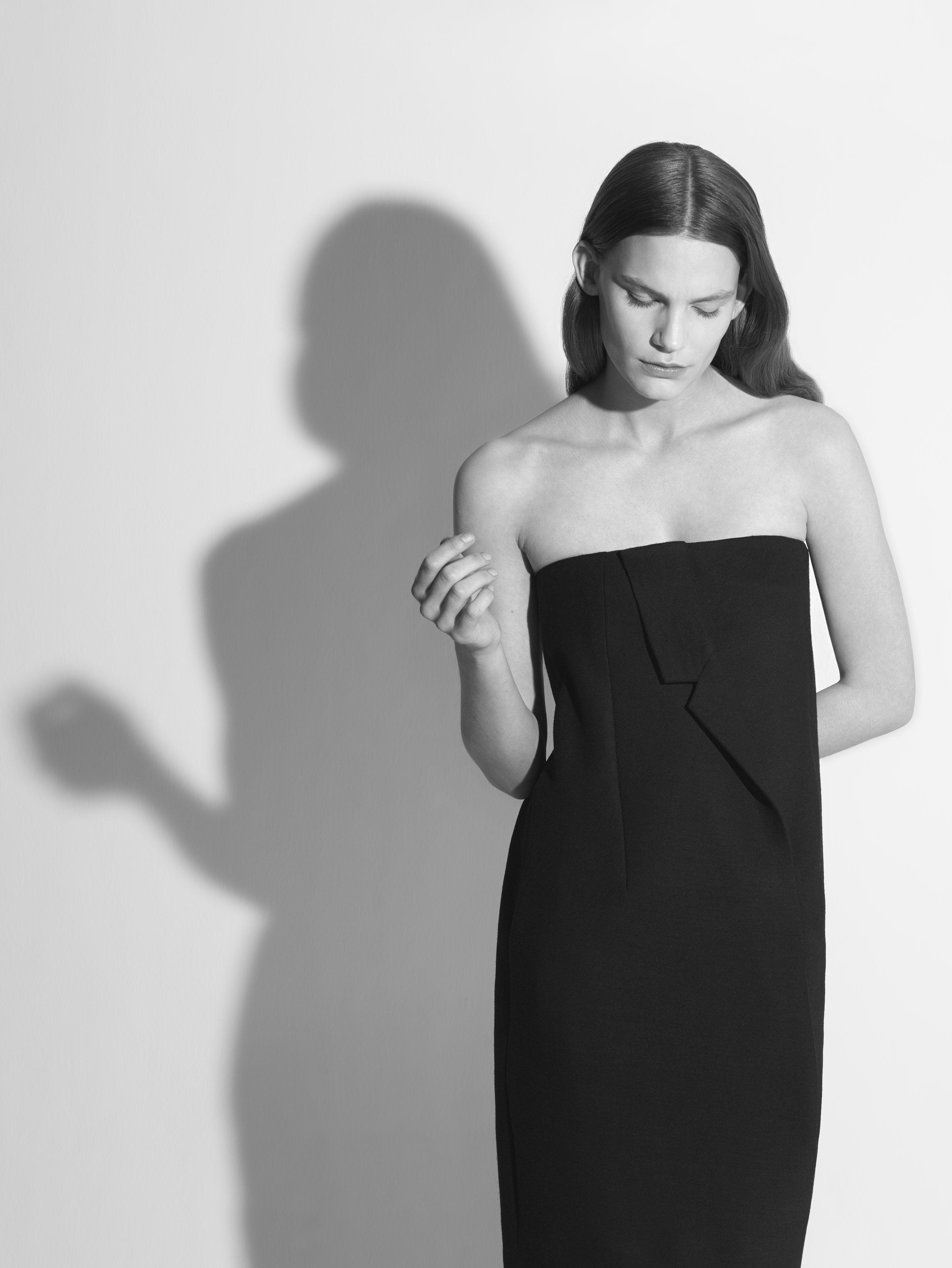 Modern Minimalist Tailoring - draped lapel dress // COS