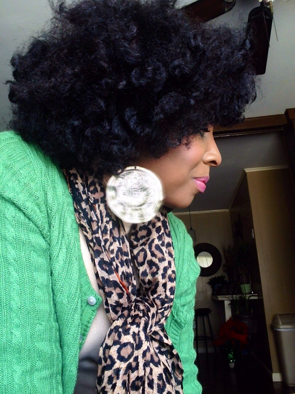 Chunky twist out with sponge rollers on the ends