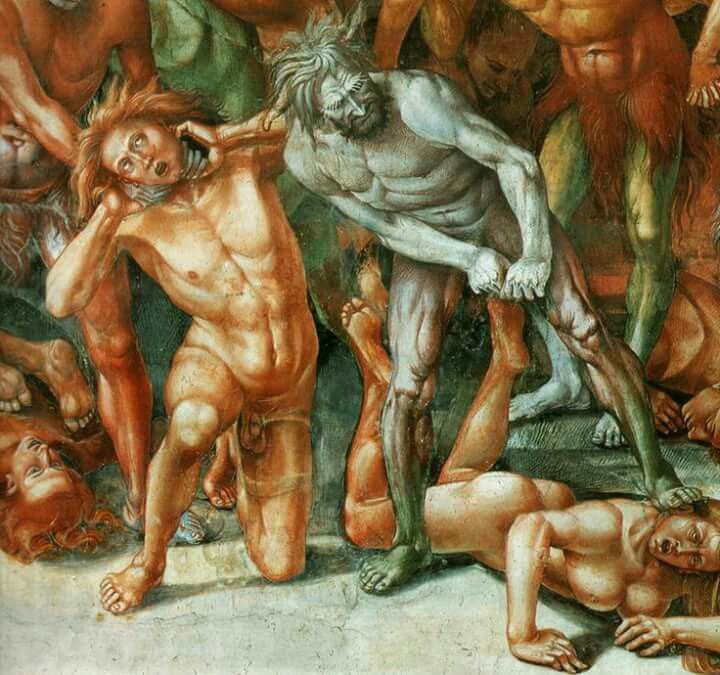 The Damned Cast into Hell (detail), Luca Signorelli.