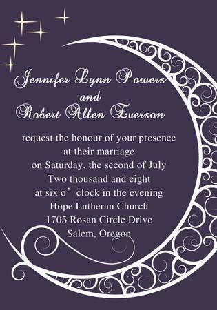 snuggle moon and shinning star wedding invitation iwi086 wedding