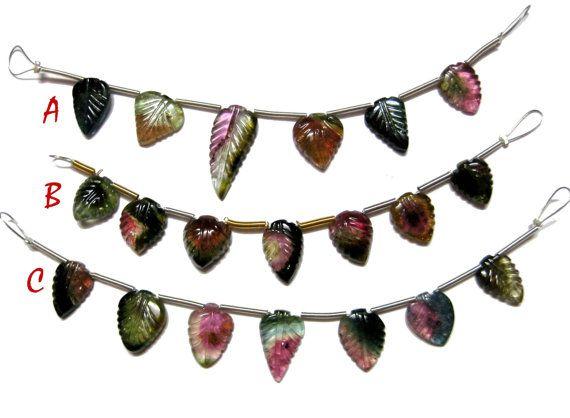 Tourmaline Carving  Semiprecious  Loose Gemstone For Jewelry Making.