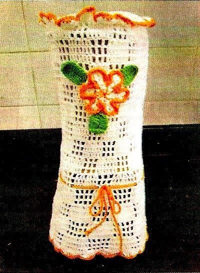 CROCHE COM RECEITA: Jogo em crochê para cozinha capa liquidificador