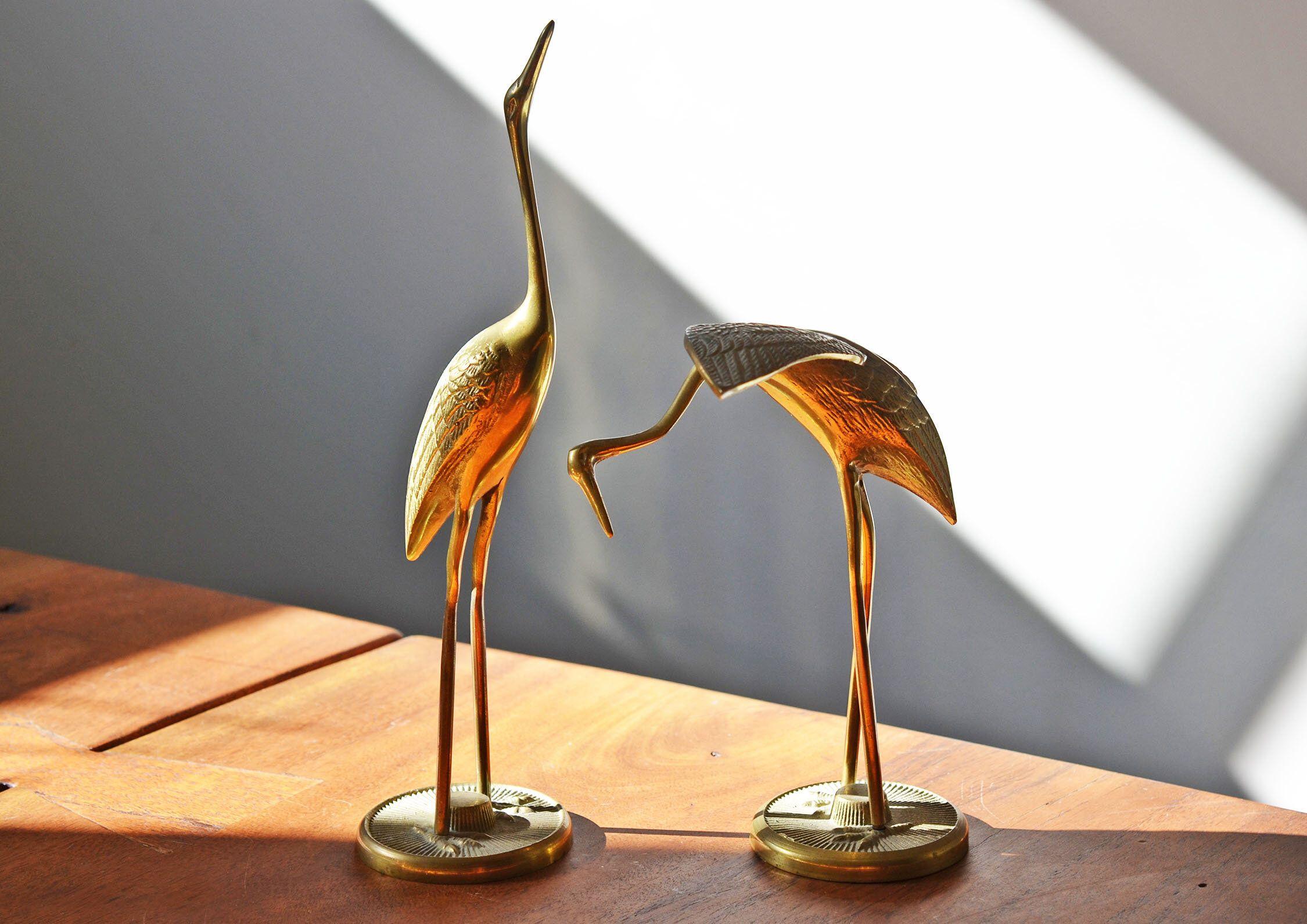 Mid Century Tall Br Cranes Circa