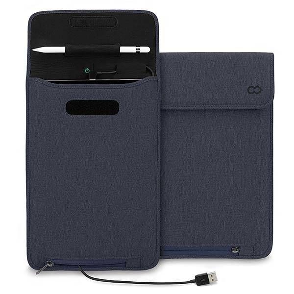 Ipad Pro 12.9 Case With Pencil Holder Casecrown Power Sleeve Ipad Pro Case With Apple Pencil Holder And