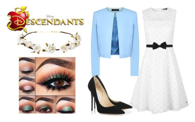 """""""Lily Radcliffe - Descendants"""" by im-a-wizard on Polyvore featuring Tommy Hilfiger, Jaeger, Cult Gaia, Jimmy Choo, Lanvin, women's clothing, women's fashion, women, female and woman"""