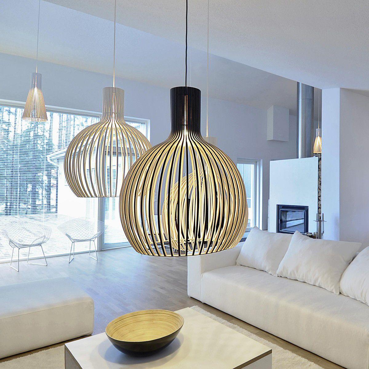suspension design octo 4240 secto design bois naturel. Black Bedroom Furniture Sets. Home Design Ideas