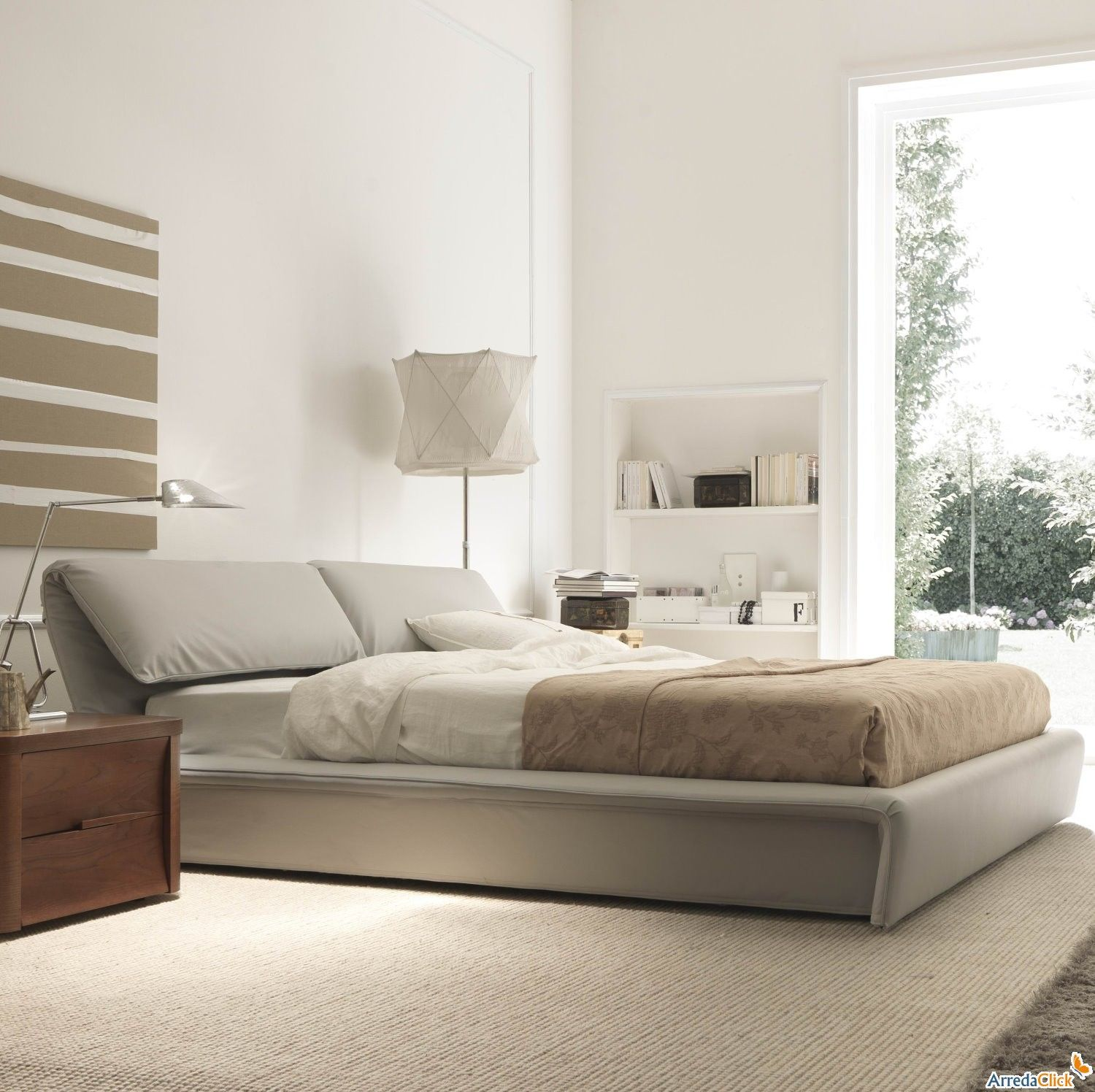 Modern bedroom in light relaxing colours miegamasis pinterest