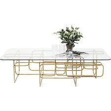 tisch beistelltisch wohnzimmer couchtisch meander gold 140x80cm, Wohnzimmer