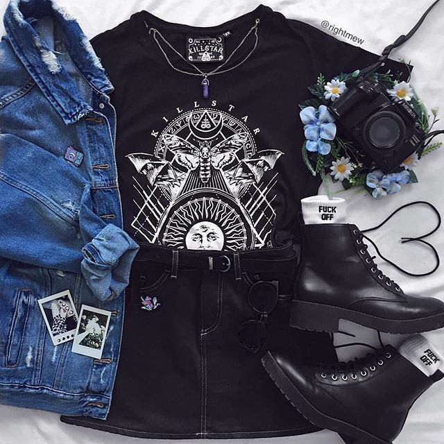 Folgen Sie ALTGirl Alternativer Stil Grunge-Stil Gotischer Stil Grunge Girl Grunge Ou ... #grungeoutfits