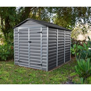 buy apex polycarbonate plastic skylight shed 6 x 8ft at argoscouk - Garden Sheds 6 X 5