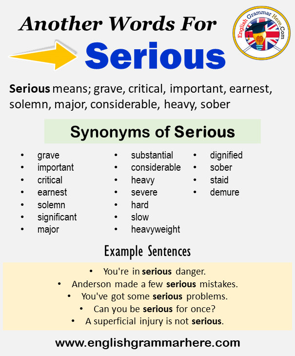 Another Word For Serious What Is Another Synonym Word For Serious Every Language Spoken Around The World In 2021 Another Word For Serious Learn A New Language Words