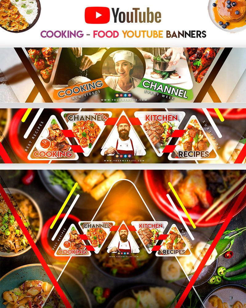 Cooking Food Youtube Banners Youtube Banners No Cook Meals Youtube Cooking