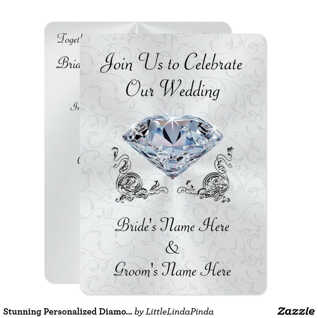 Stunning Personalized Diamond Wedding Invitations | Diamond and Weddings
