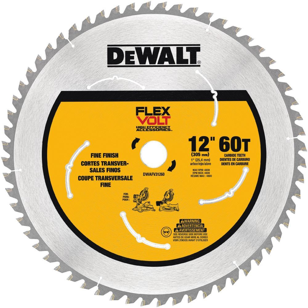 Flexvolt 12 Inch 60t Saw Blade Table Saw Blades Circular Saw Blades Dewalt Circular Saw