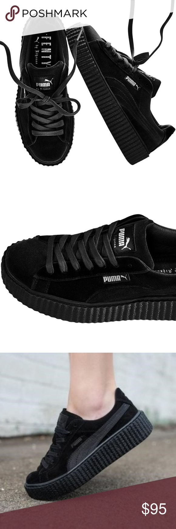 ff97740cbd8 Puma x Rihanna Velvet Creepers - Black 6 Rihanna x Puma collabs Velvet  Creeper in Black in US 6. It s a bit snug so can fit 6.5 as well. Worn once  and ...