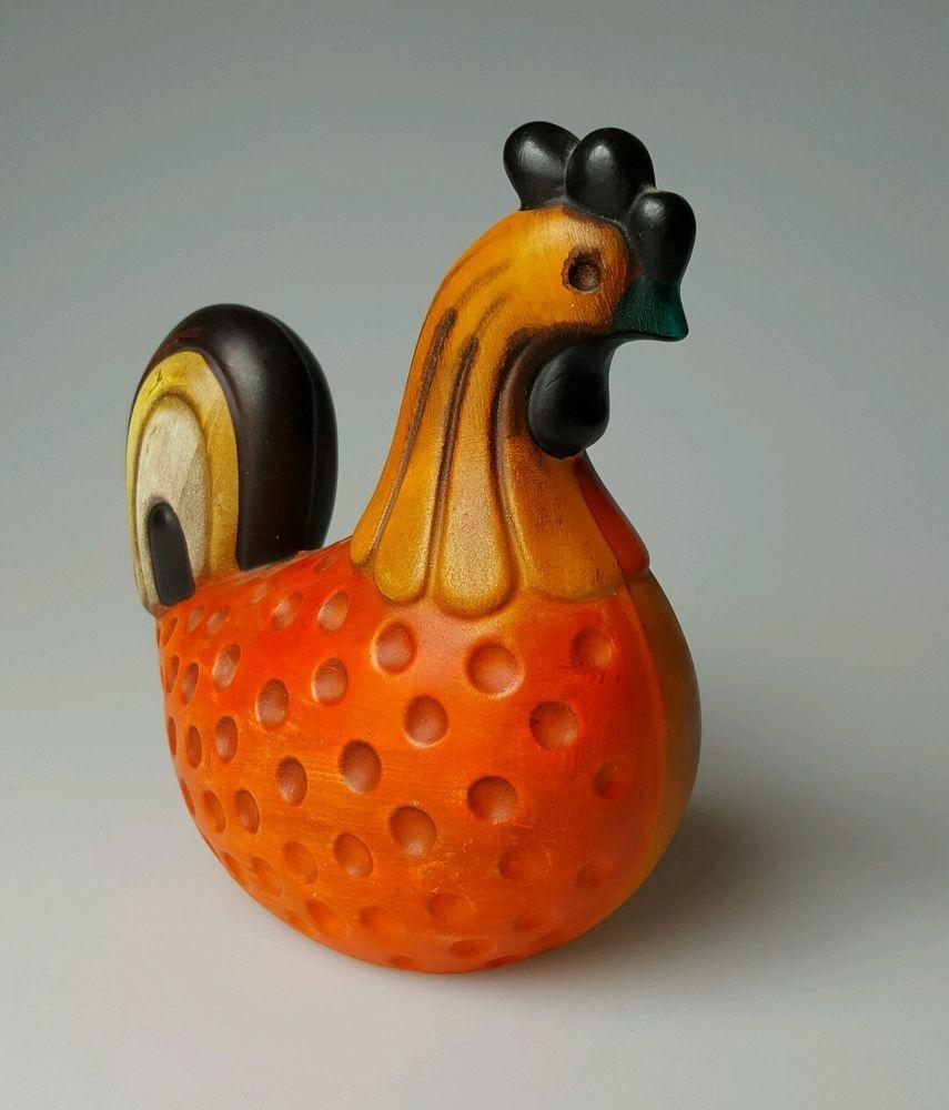 Vintage Ardco composition figurine mod rooster chicken