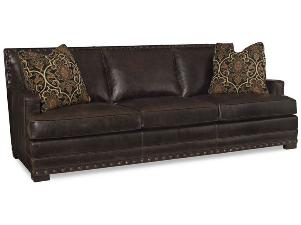 Elegant Looking Bernhardt Sofa Collection : Winsome Bernhardt Cantor Leather  Sofa With Transitional Style And Nail