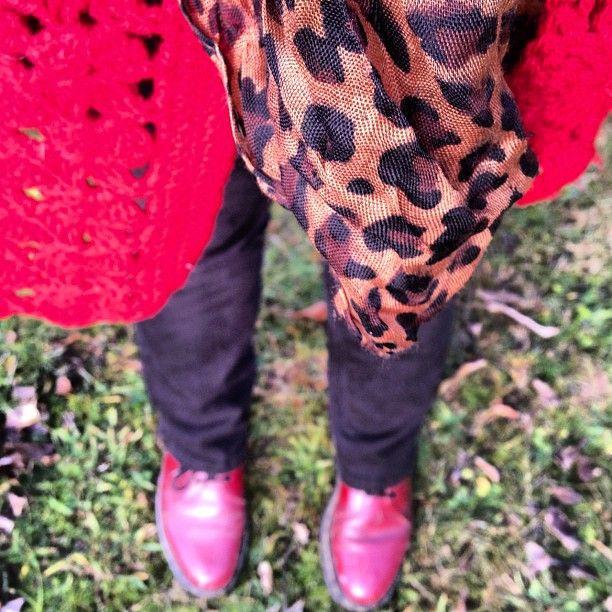 Winter walking attire #pipsinstagramlookbook  crimson docs, black target jeans, Etsy poncho-shawl, bargain shop scarf. - @mbcontessa- #webstagram Join in at : http://meetmeatmikes.blogspot.com.au/2012/06/update-pips-instagram-lookbook.html