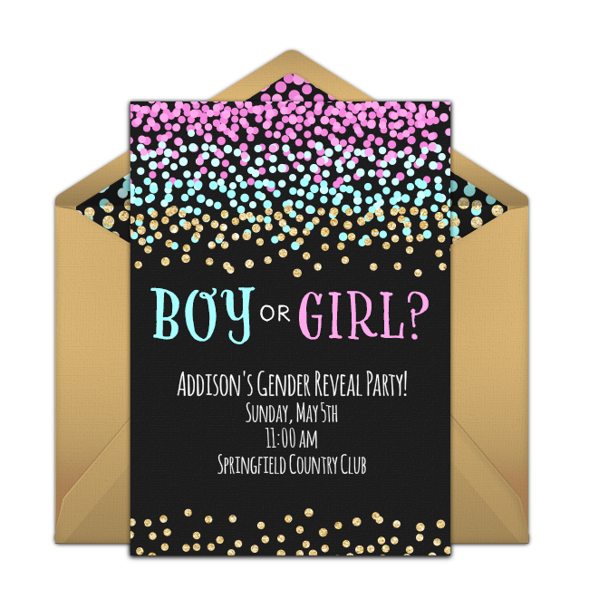 Free Boy Or Girl Sparkle Invitations Gender Reveal Invitations Gender Reveal Party Invitations Gender Reveal Balloons