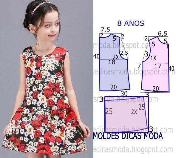 8191033fb7e Платье для девочки 7-8 лет выкройка (Шитье и крой)