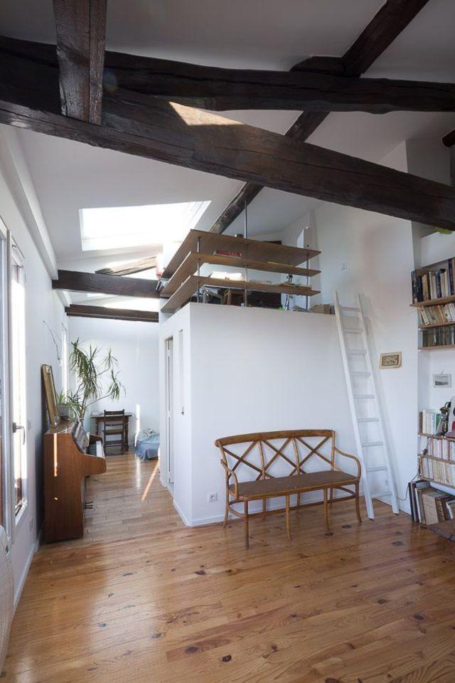Appartement Paris 20 : 40 m2 avec combles aménagés