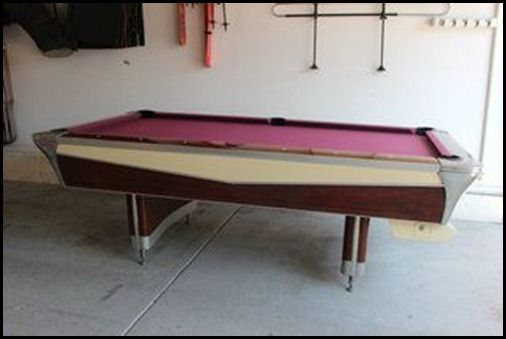 Vintage S Fischer Pool Table Garys Swanky Basement - Dicks sporting goods pool table