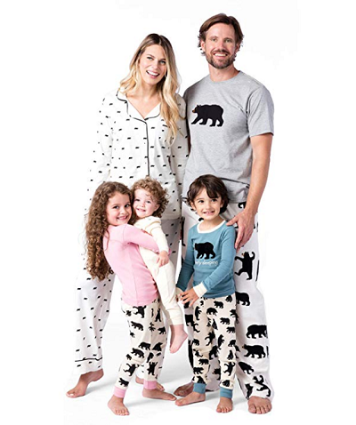 Family Pajamas Matching Outfits Sets Out Cold Penguin Print Tops and Pants Family Pajamas Sleepwear Long Sleeve Clothes