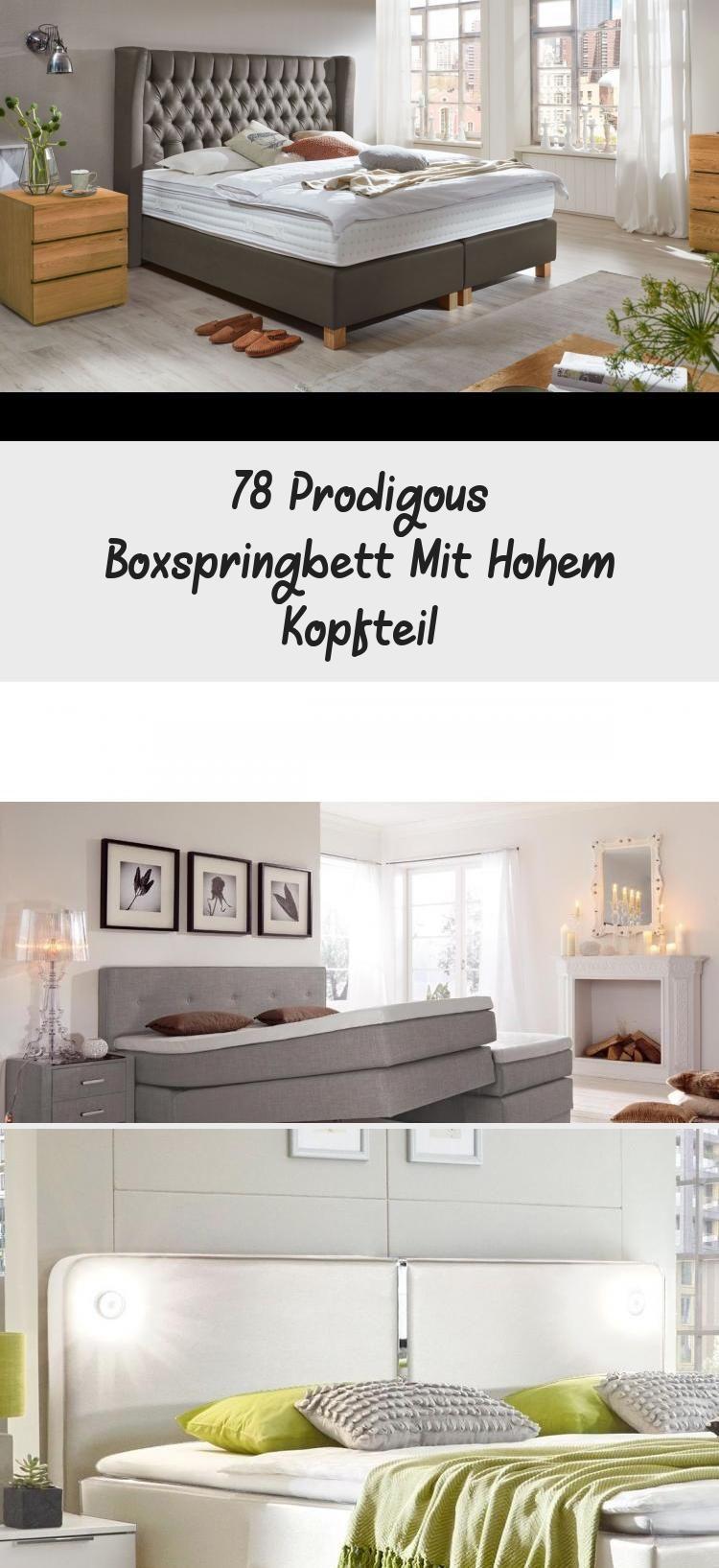 78 Prodigous Boxspringbett Mit Hohem Kopfteil In 2020 With Images Home Home Decor Decor