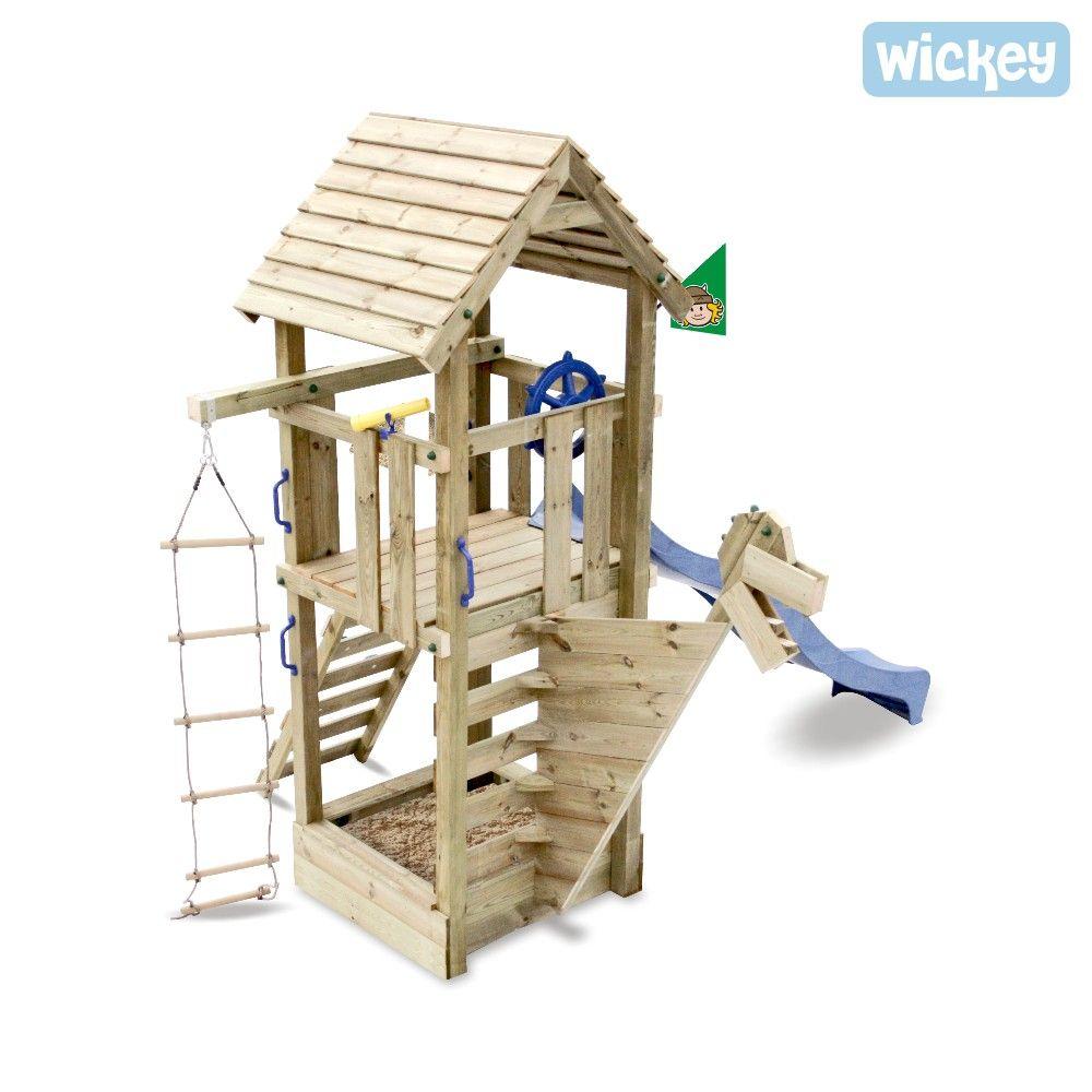 Spielturm Wickey Captain Blue Mit Rutsche Schiff Mit Rutsche Spielturm Spielturm Kleiner Garten Spielturm Garten