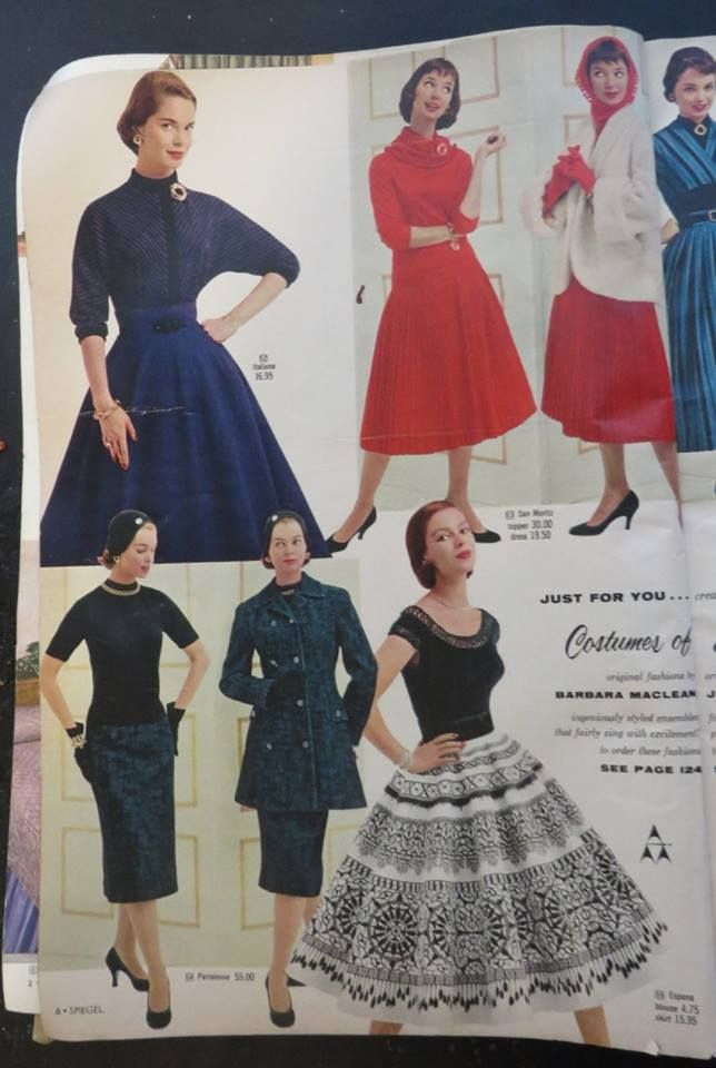 Spiegel Cover Fall & Winter 1955, Elegant fashions!