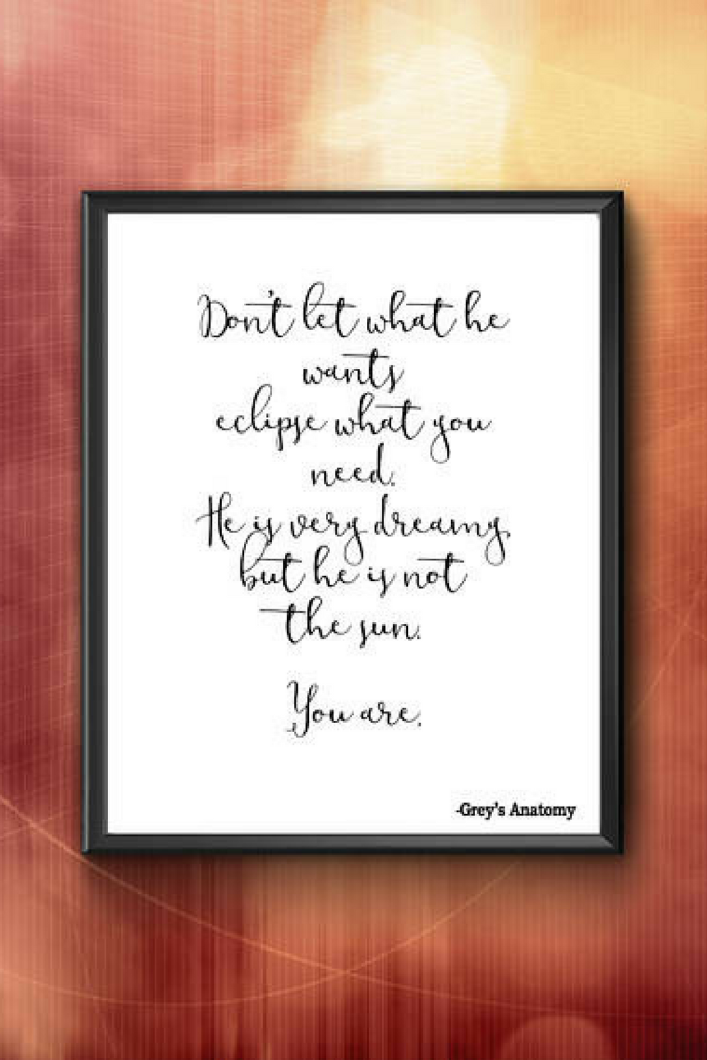 Grey\'s Anatomy Quote printable - the perfect empowering quote! #ad ...