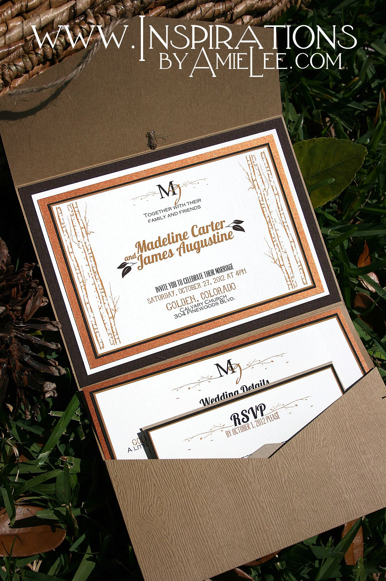 Rustic wood wedding invitations. Don\'t like this, but bookmarking ...