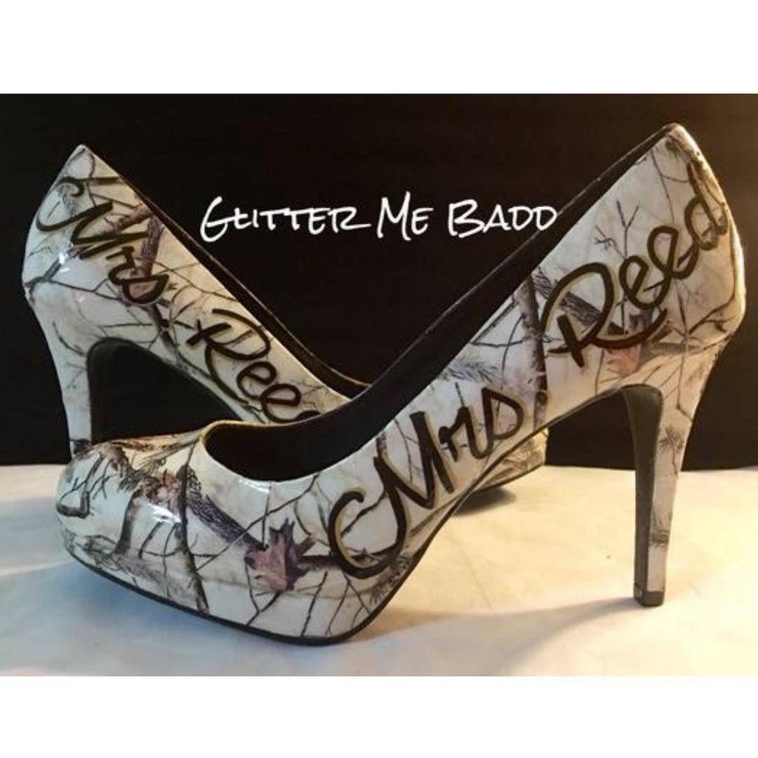 Pin By Jennifer Spence On Wedding Camo Wedding Wedding Shoes Bridesmaid Wedding Shoes Bridesmaid Heels