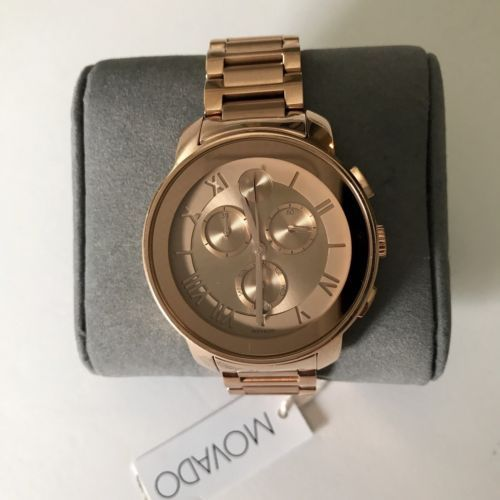 10e1a2db5 New Movado Bold Rose Gold Ion Chronograph 40 mm Women's Watch 3600210
