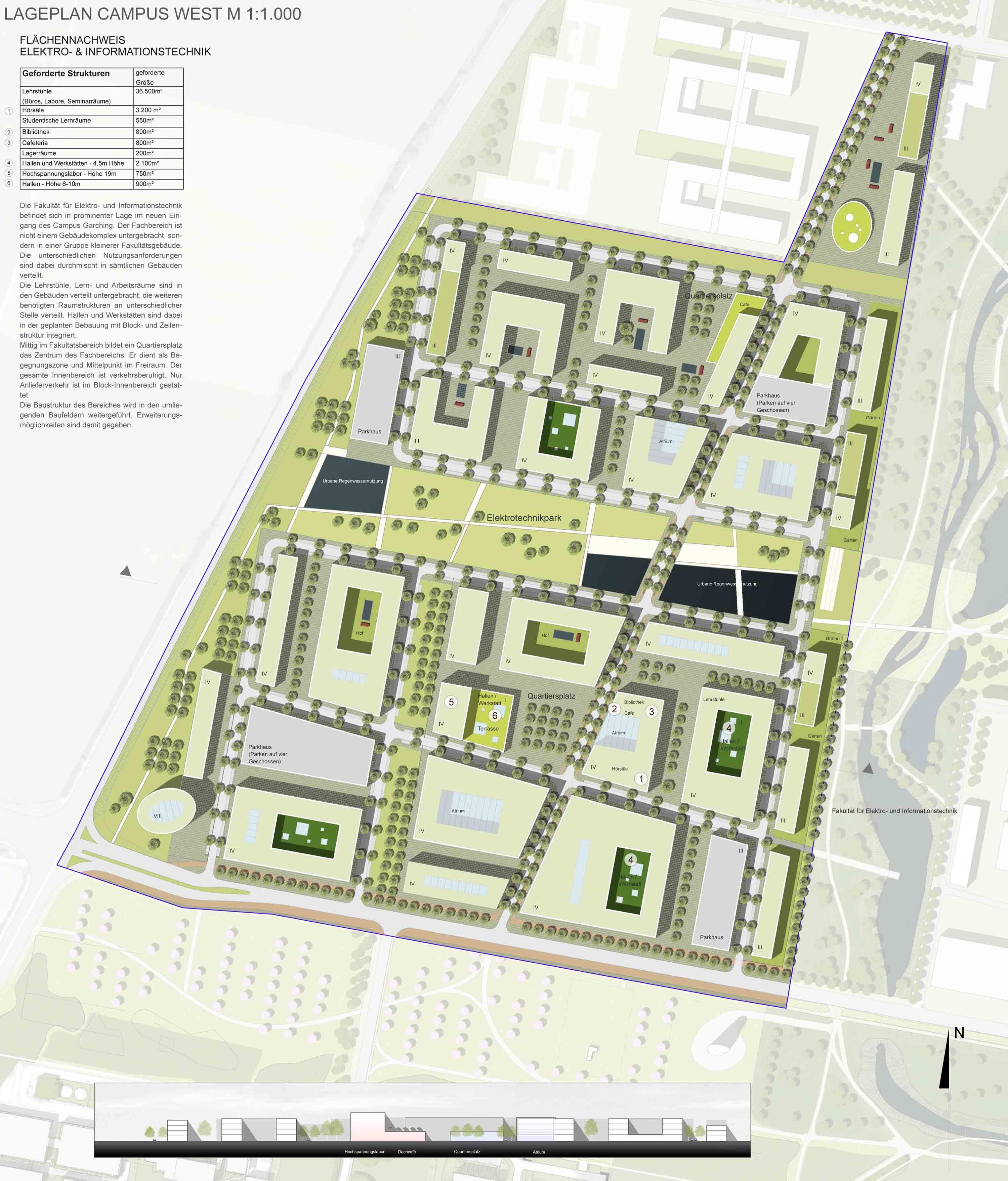 Prize lageplan campus west pinterest - Architektur plan ...