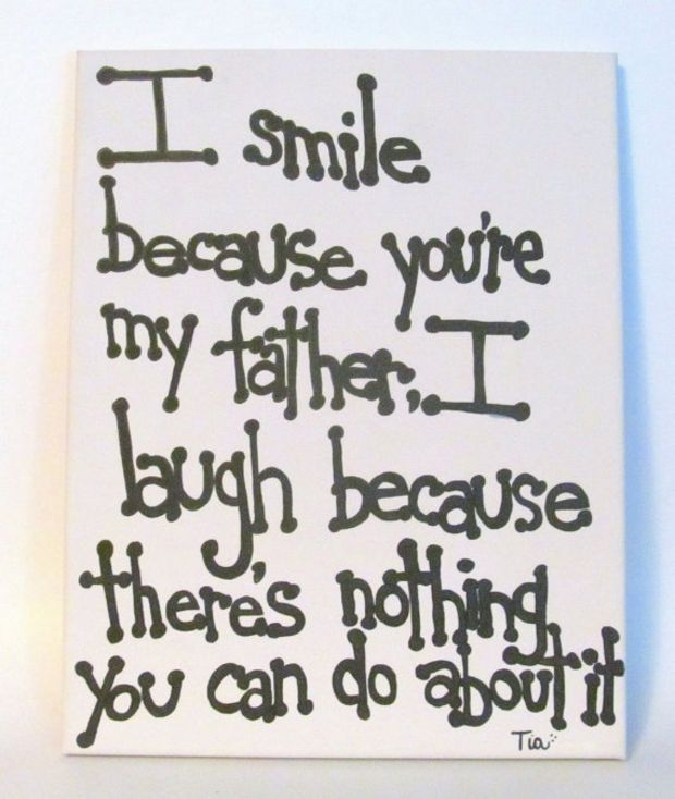 Father Quotes Gift For Dad Canvas Quote 11x14 Funny