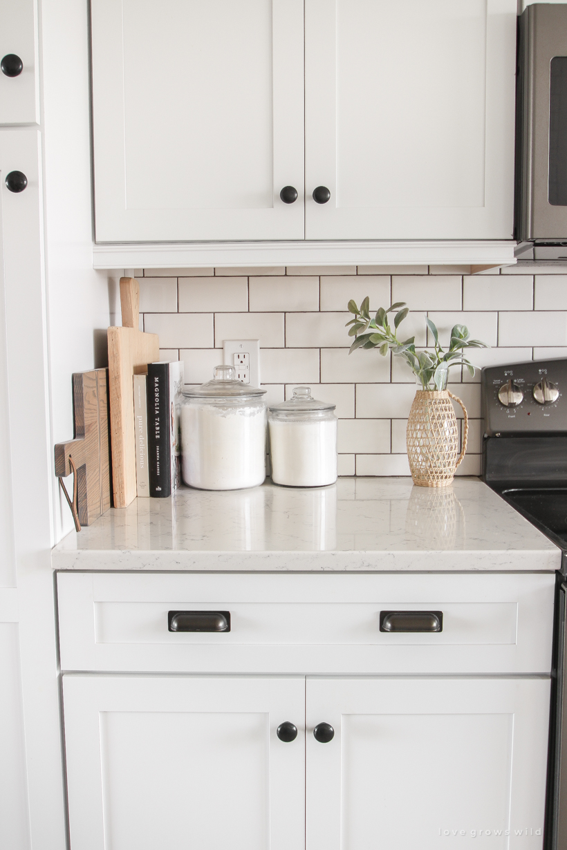 Kitchen Curtains + Counter Styling