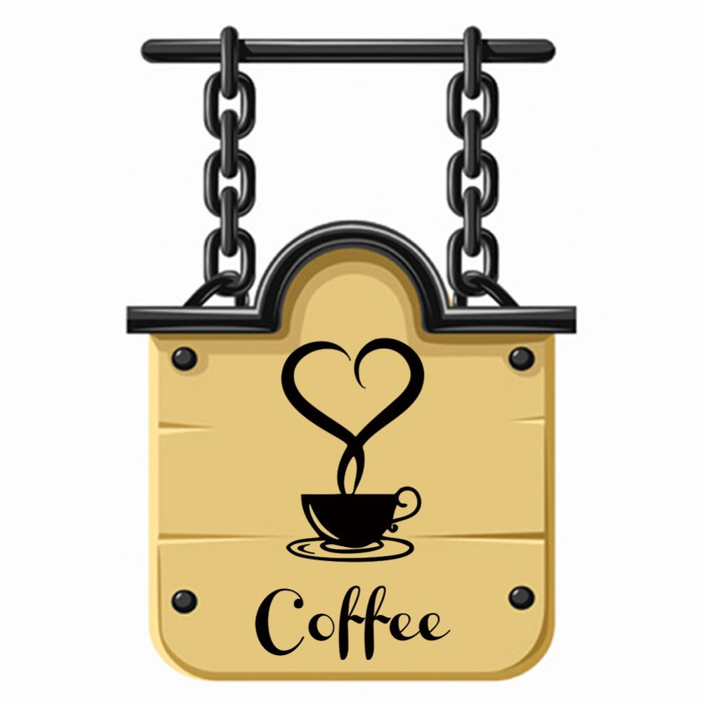 Coffee shop Restaurant Love Heart wall decor decals home ...