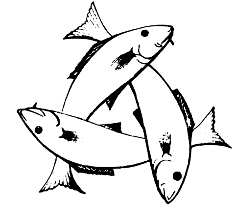 A Trinitarian Christian Symbol Of Three Intertwined Fish Forming A