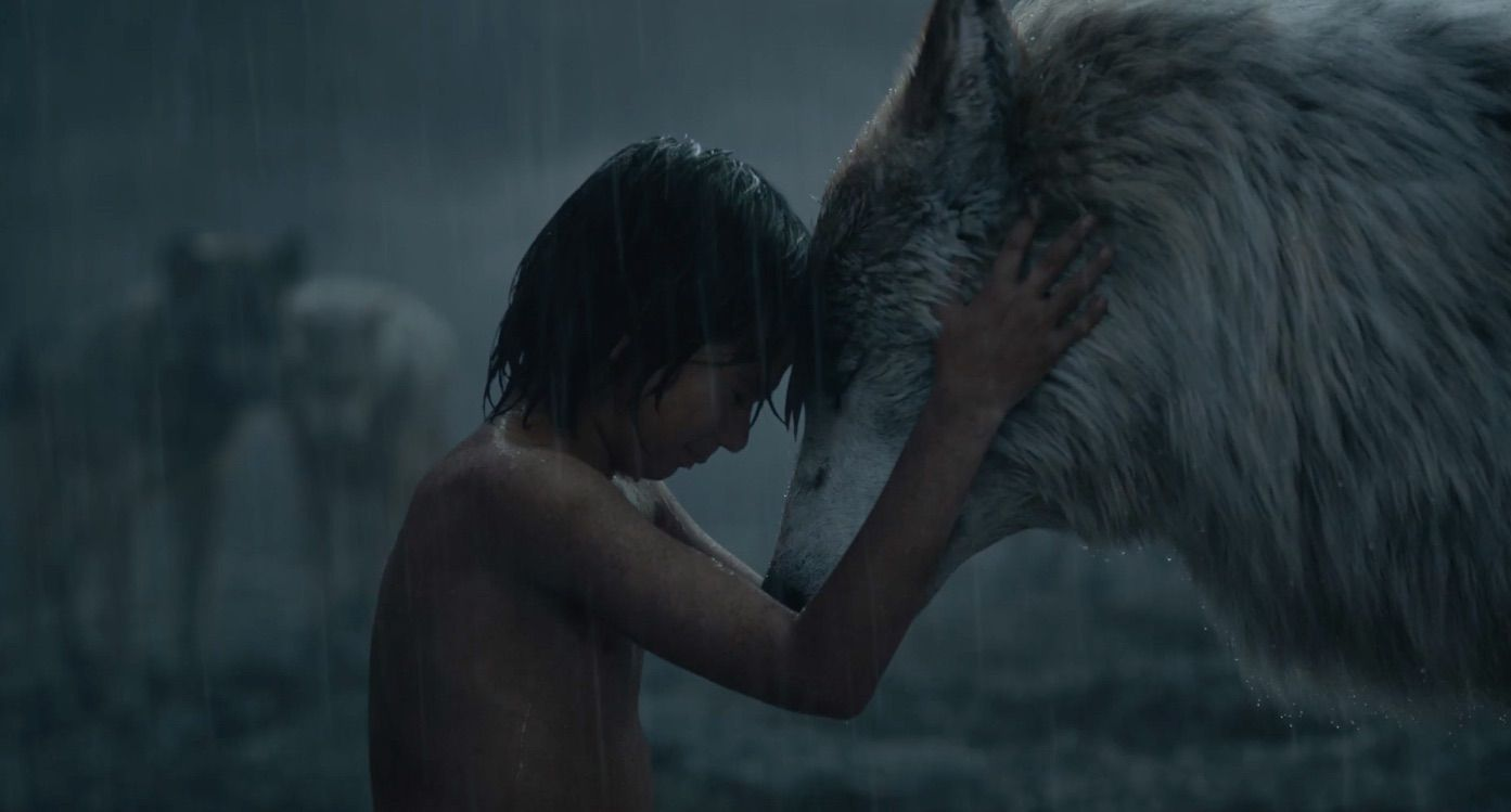 the very first image of the jungle book sees the traditional film