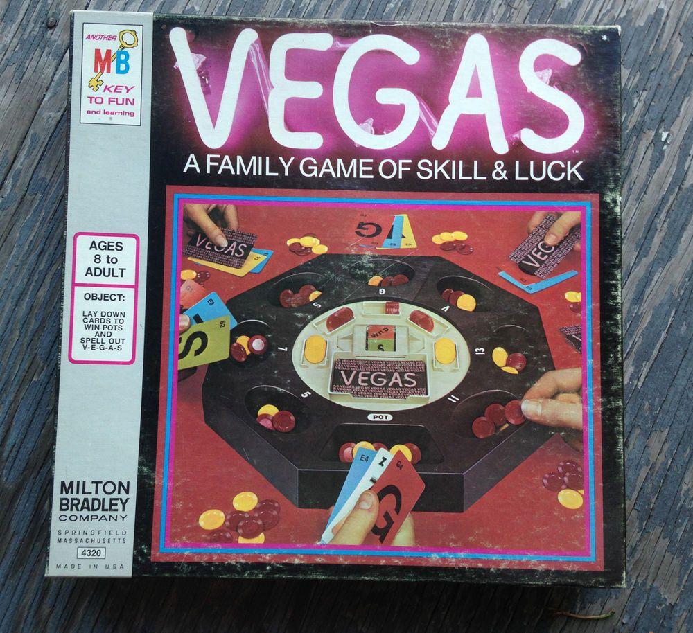 * Vintage VEGAS Gambling Board Game MILTON BRADLEY Casino CARD Games 1973 #MiltonBradley