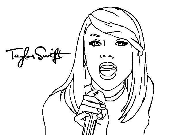 Taylor Swift Singer Coloring Pages | Cute coloring pages ...