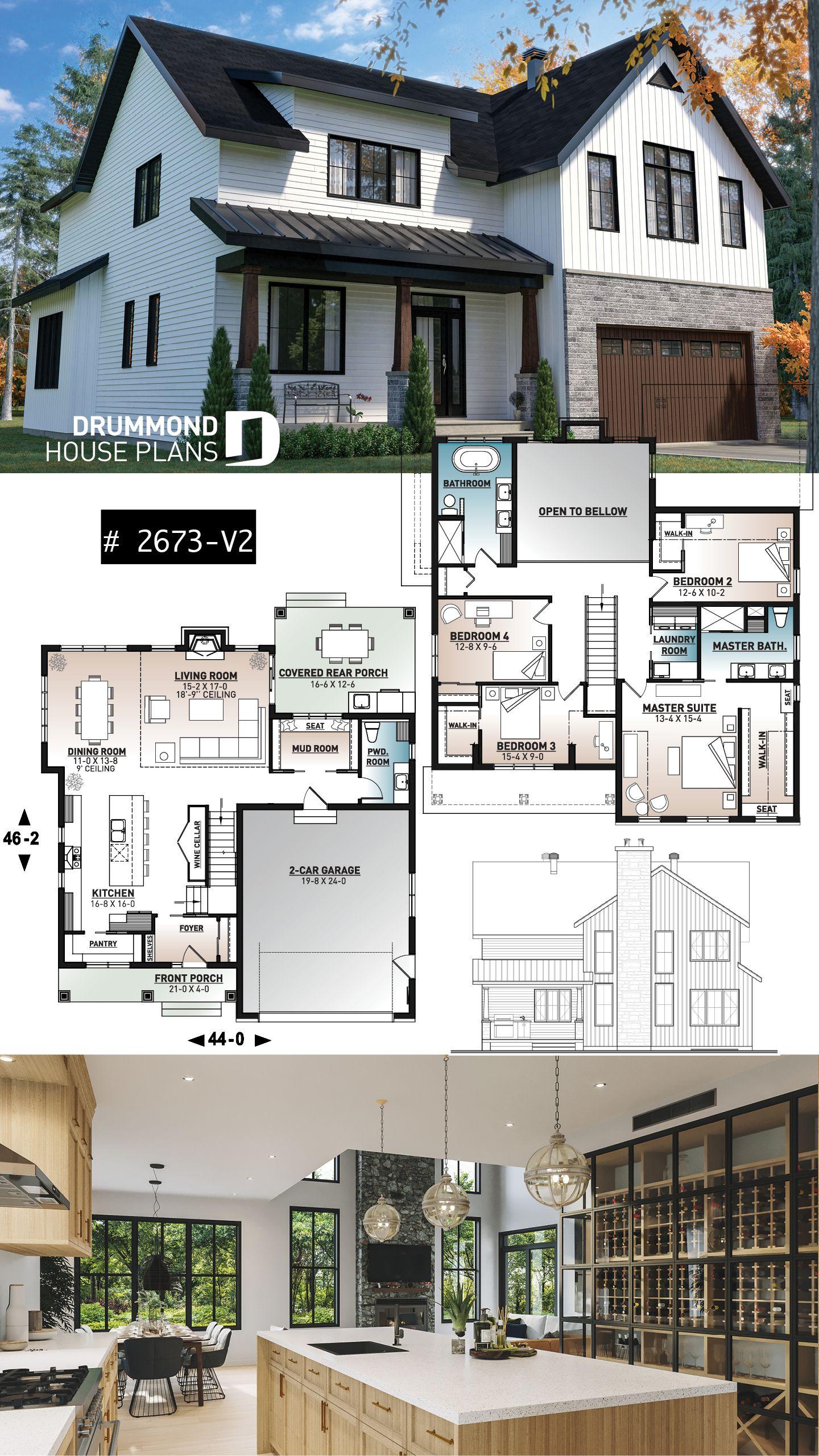 Farmhouse Home Plan House Plans Farmhouse House Architecture Design Sims House Design