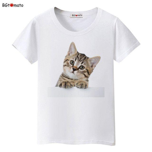 9301632a656 BGtomato Super cute 3D little cats t shirt women lovely cool summer shirts  Good quality comfortable casual tops brand shirts
