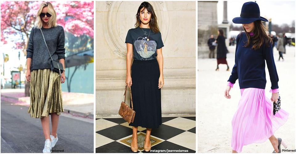 4 façons canons de porter la jupe plissée